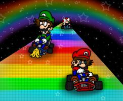Rainbow Road SNES by HamSamwich