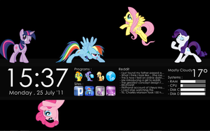 MLP: FiM Rainmeter Desktop by Xris777
