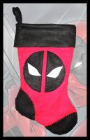 Deadpool Christmas Stocking by Vulture34