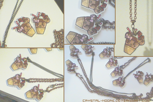 Coco Kodiak Grizzly Bear Charms by Crystal-Moore