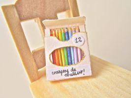 Miniature colour pencils by AGTCT