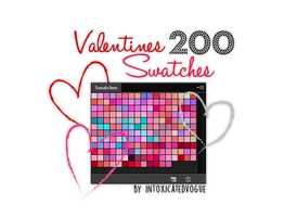 200 Valentine's Swatches by intoxicatedvogue