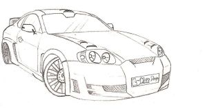 Hyundai Coupe' by Carbon93
