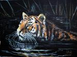 Keeping Cool Acrylic Painting by Lynne-Abley-Burton