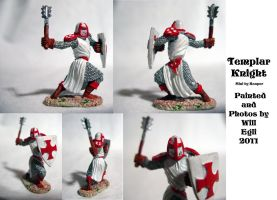 Templar Knight With Mace - Collage by SurfTiki