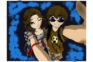 Klair and Chris - iPhone - colored by ZolaLink