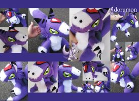 Dorumon Plushie - Digimon by plooshieS2