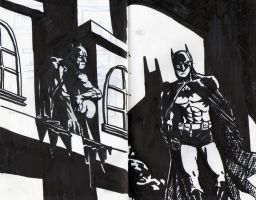 the Batman - sketchbook pages by jonc20