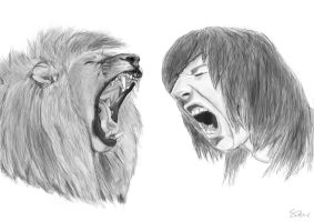 Oliver Sykes and Lion by Imsarahx