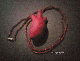 Heart Necklace by pandaparty666