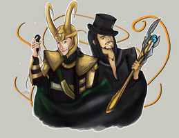 Commission: Loki/Voltaire by Ariequi