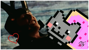Loki vs. Nyan Cat #1 gif by IceFloe-ArtSoul