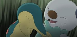 PokeSelfie: Cyndaquil and Oshawott by All0412