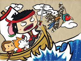 Momotaro's Journey by freative