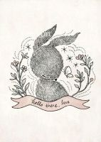 hello there, love - Print by yeevon