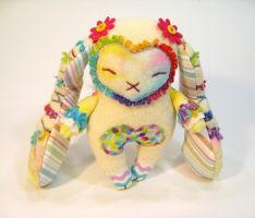 Rainbow Springtime Bunny Plush by Lithe-Fider