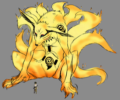 Kyuubi of the Six Paths by furbyprince