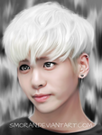 Jonghyun phone drawing by SMoran