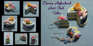 Ouran HS Host Club Cake by okapirose