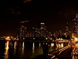 Chicago Skyline Nightscape: 02 by TropicalxLondon
