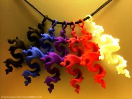 Dragon Pendant 6cm - 3D printed plastic by bib993