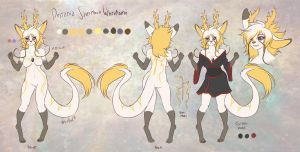 Destania reference sheet commission by WhitePhox