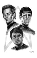 Star Trek new crew by vividfury