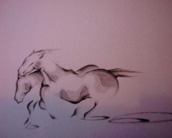 Running Horses by silasire