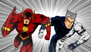 Flash VS Quicksilver by NaGaSaNe