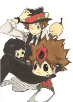 Tsuna and family by Vermilion-Rasengan