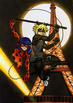 .: Ladybug and Chat Noir :. by Dreamgirl2007