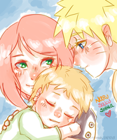 Naruto AU - Little Family by Kirabook