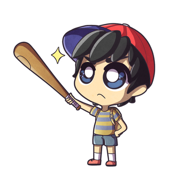 Commission #4. Ness by Ezkai
