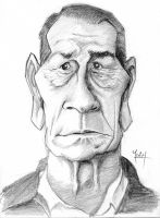 Tommy Lee Jones Caricature by yoeh