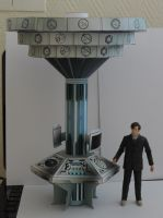 TARDIS CONSOLE and TIME ROTOR by darkmaul99