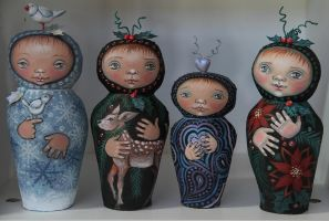 Sukeshi Dolls for Christmas 2013 by Artemisia52
