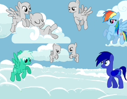 Collab it Blue Star , Frost Neirz and Dashie :3 by lllRafaelyay