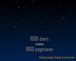 1000 stars by Lazlo-Moholy