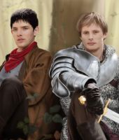 A Painting of Merlin and Arthur by jht888