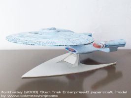 papercraft Star Trek TNG Enterprise-D by ninjatoespapercraft