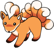 Oldschool Vulpix by RacieB