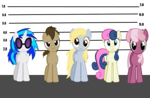 The Pony Police lineup by MetalGriffen69