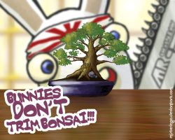 Bunnies Don't Trim Bonsai by MisterIngo