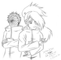 Deidara and Tobi x3 by Ashayami