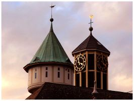 Church and Water Tower by Fox82
