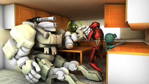 Just a kitchen.. WITH ROBOTS by JAW1002