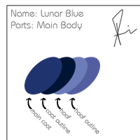 Lunar Blue Color Pallette by centerdave77