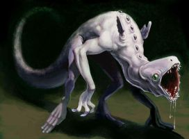Monster concept coloured by oddballinc