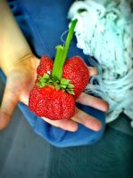 Huge Strawberry by P5YD3X