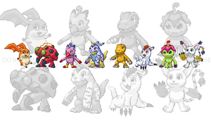 Digimon: Digital Pixels by redjaypeg